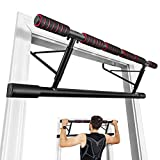 Goplus Pull up Bar for Doorway, Foldable Door Chin Up Bar w/Smart Hook, Foam Paddled Grip, Protective Pad, Portable Fitness Pull up Bar, Strength Body Training Workout Equipment, No Screws Needed