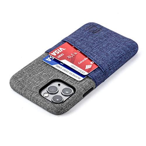 Dockem Luxe M2 Cover Portafoglio per iPhone 11 Pro (5.8): Sottile Custodia Porta Carte di Credito con Piastra Metallica Integrata per Supporto Magnetico: Serie M [Blu e Griggio]