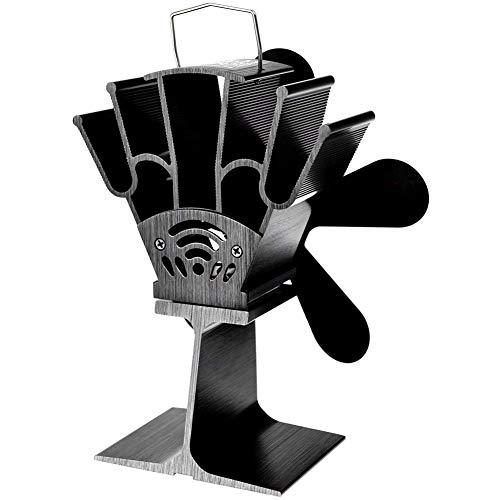 JAWSEU Actualizado Ventilador,Estufa Ventilador ActualizacióN,Ventilador De Estufa Ventilador De Chimenea Calor Ventilador EcolóGico Ventilador Superior con TermóMetro Ventiladores PortáTiles