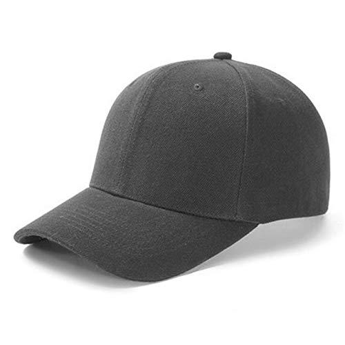 1 Uds, Gorra Unisex Informal, Gorra de bisbol de Malla Lisa, Sombreros Ajustables para Mujeres y Hombres, Gorra de Camionero de Hip Hop, Gorra de pap-Dark Grey-54cm-60cm