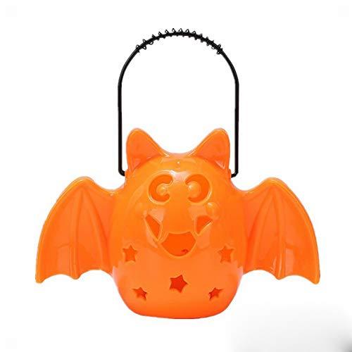 GYY Halloween Kürbis Laterne, Kinder Tragbare Laterne, Fledermaus Lampe, Katze Gesicht Laterne, Musik, Licht, Spielzeug, Geschenke, Kleine Geschenke,EIN,Einheitsgröße