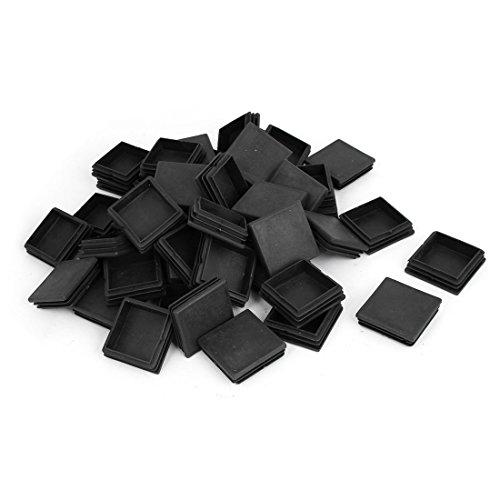 sourcing map Meuble Bureau carré Plastique Chaises Noir Tube 50mmx50mm 50 pièces