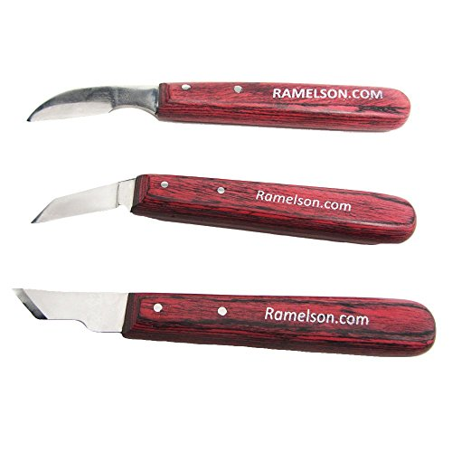 UJ Ramelson 3 Piece Complete Chip Carving Knives Best Wood-Carving Knife Set