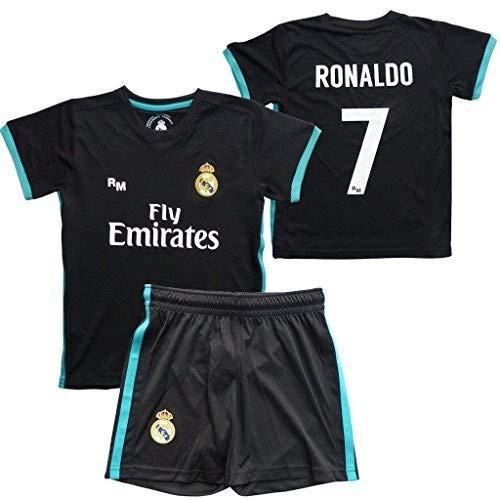 Box Set 2ª Equipación Real Madrid Replica Oficical, Licenciada 2017-2018. Cristiano Ronaldo Nº 7- Talla 2 años
