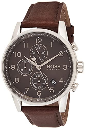 Hugo Boss Orologio Cronografo Quarzo Uomo con Cinturino in Pelle 1513494