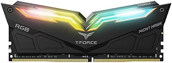 TEAMGROUP T-Force Night Hawk RGB DDR4 16GB Kit SDRAM (2x8GB) 3000MHz (PC4-24000) CL16 Desktop Memory Module ram TF1D416G3000HC16CDC01 (Black)