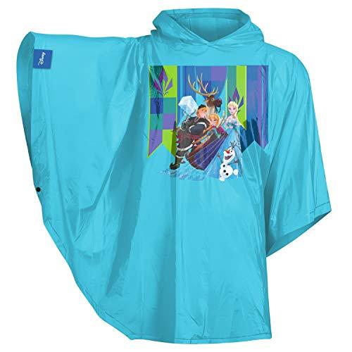 Baagl Kinder Regenponcho - Regencape mit Kapuze und reflektiven Elementen - Regenmantel für Mädchen ab 130cm (Eiskönigin)