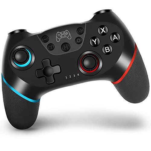 Wireless Controller per nintendo switch, VINSIC Joycon per Switch Joystick Gamepad con Batteria Ricaricabile/Gyro Axis/Dual Vibration/Turbo Funzioni
