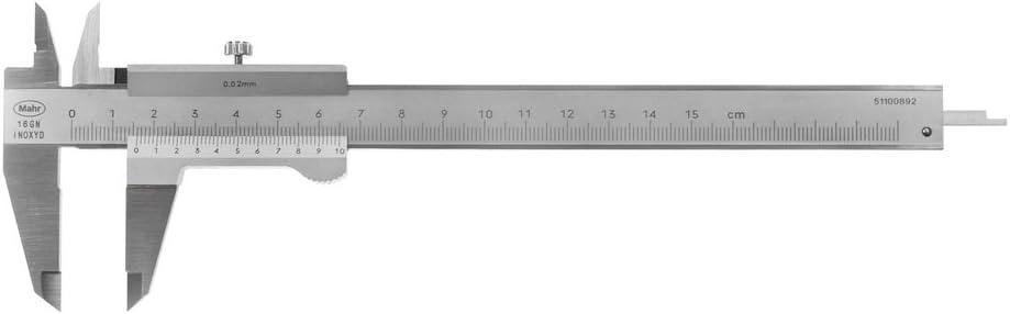 Mahr bolsillos calímetro analógico 150 mm MarCal 16GN, lectura: 0,02 mm con un tornillo de seguridad 4100650