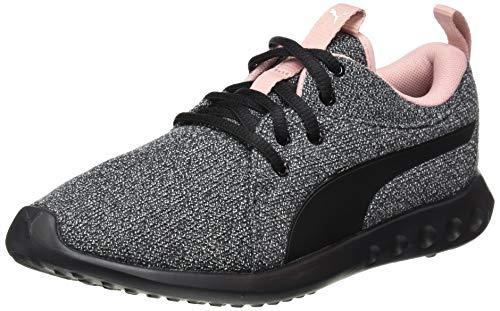 PUMA Women's Carson 2 Knit NM Wns Running Shoes, Black White-Bridal Rose, 4 UK 37 EU