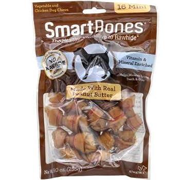 SmartBones Mini Peanut Butter Chews  16 Pack