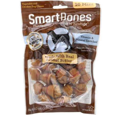 SmartBones SBPB-00211 Mini Chews With Real Peanut Butter 16 Count, Rawhide-Free Chews For Dogs Review