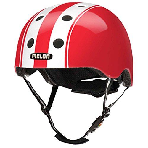 Melon Helm double white red - Fahrradhelm, Skaterhelm, BMX Helm, Größe:XL-XXL (58-63cm)