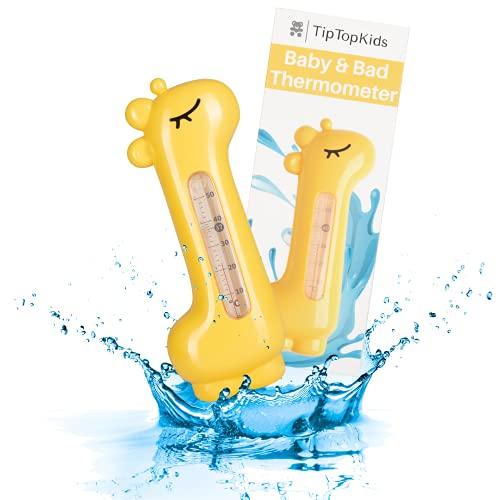 TipTopKids Termómetro de baño para bebé, perfecta temperatura de baño, resistente a los golpes, sólido y robusto, termómetro de agua para una diversión segura en el baño, sin BPA