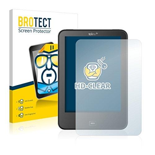 2X BROTECT HD Clear Displayschutz Schutzfolie für Tolino Vision 4 HD (kristallklar, extrem Kratzfest, schmutzabweisend)