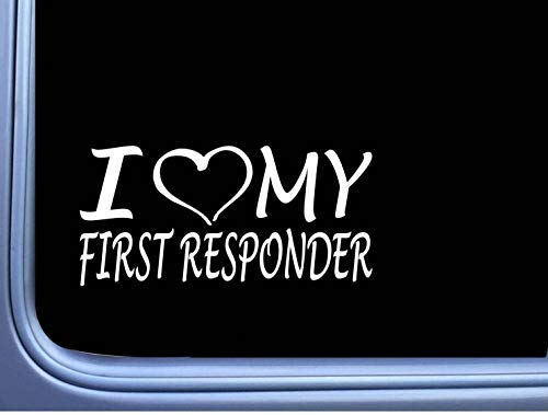 DKISEE I Love My First Responder EMT Decal Sticker M190 Star of Life
