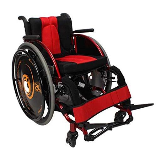 DSHUJC Rollstuhlsportarten, manuelle Schnellreifenentfernung mit Umkippschutz Einstellung Komfortabler und atmungsaktiver Schwamm Behinderte/ältere Menschen mit Eige