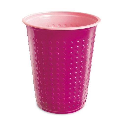 Akzenta 40 Stück Trinkbecher Plastikbecher 200 ml verschiedene Becher Farben wählbar W5(Bicolar pink-rosa)