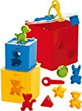 Gowi 453-21 - Set de cubos apilables con formas encajables (12 piezas) , color/modelo surtido