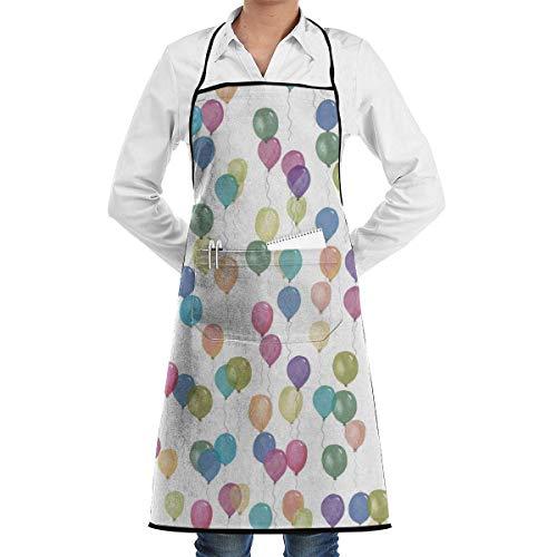 AOOEDM Delantal Profesional Impermeable para Restaurante Apron con Bolsillos, Bolsillos de Cocina, arcoíris para Ordenador, Lavable a máquina para cocinar