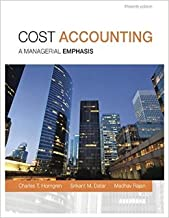 Cost Accounting (15th Edition) by Charles T. Horngren Srikant M. Datar Madhav V. Rajan15 edition (Textbook ONLY, Hardcover)