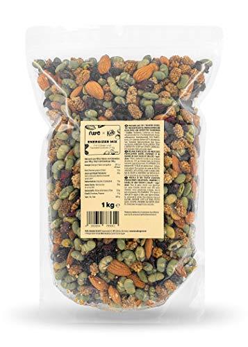KoRo - Mezcla energética - 1 kg - Salado y dulce a la vez - con arándanos, almendras, moras y edamame - recomendado por la nutricionista Sarah de No Time To Eat