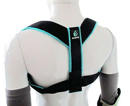 Emeritt Adjustable Back Posture Corrector | Comfortable Posture Enhancer for Women & Men | Discreet to Wear Under Clothes, Improve Posture, Fix Slouching, Relieve Back Pain