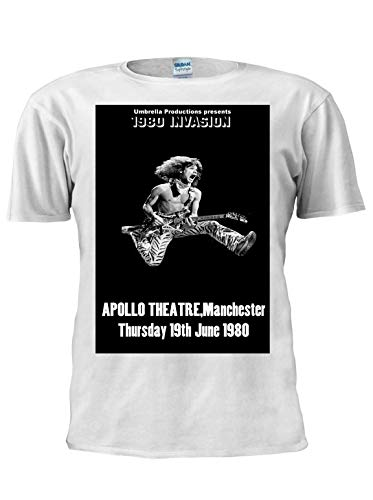 Men's Eddie Van Halen Leaping T-shirt, Mancherste 1980, S to XXL