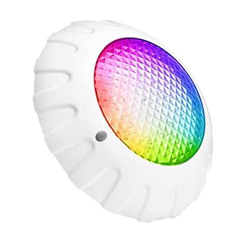 Kuashidai Luces de piscina - luces de bañera de hidromasaje - luces de baño bajo el agua 12V 38W luces subacuáticas IP68 impermeable cambio de color RGB lámpara