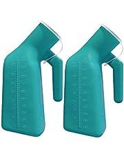 Hkwshop Urinario de Emergencia Firma de Espesor Masculino Urinario Botella de orina con el reemplazo de Tapas 1000 ml Urinario Noche Pot Paciente Anciano Inodoro Masculino portátil