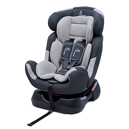 R for Rabbit Convertible Baby Car Seat Jack N Jill Grand Innovative ECE R44/04 Safety Certified Car Seat for Kids of 0 to 7 Years Age with 3 Recline Position (Grey)