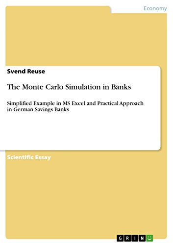 The Monte Carlo Simulation in Banks: Simplified Example in MS Excel and Practical Approach in German Savings Banks (English Edition)