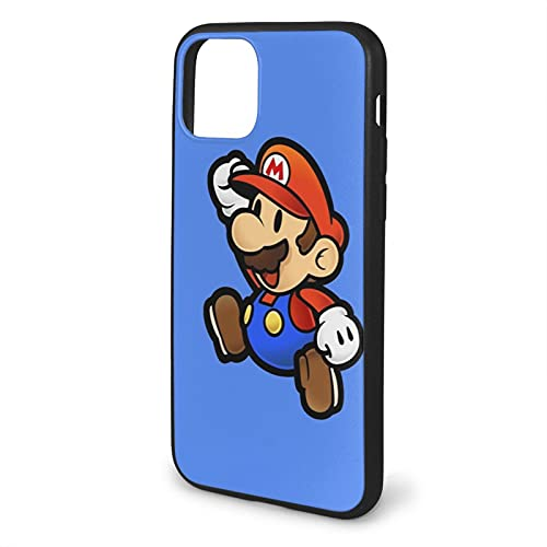 Carcasa blanda para iPhone 11-6.1, diseño de Super Game Mario, color negro