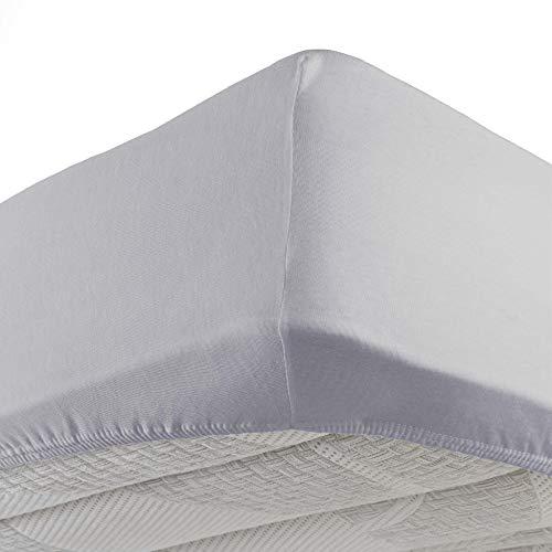 douceur d'intérieur - 1640319 - New Drap Housse - Jersey Uni Gris - 140 x 190 cm