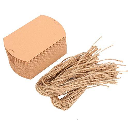 Eco Friendly Candy Box Pillow Candy Box Papieren bonbondoos, bonbondoos, met touw voor thuiskantoor