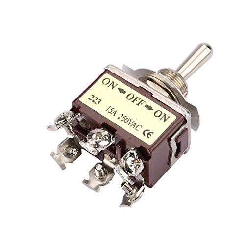 Interruptor de palanca momentáneo de 3 posiciones, interruptor de palanca momentáneo estable, práctico y compacto, útil para control industrial de automóviles