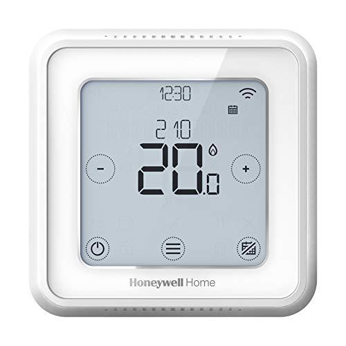 Honeywell Home T6 Termostato inteligente cableado con WiFi y aplicación móvil, ahorra energía y dinero, compatible con Apple HomeKit, Google Home, Amazon Alexa e IFTTT, blanco (1 pieza)
