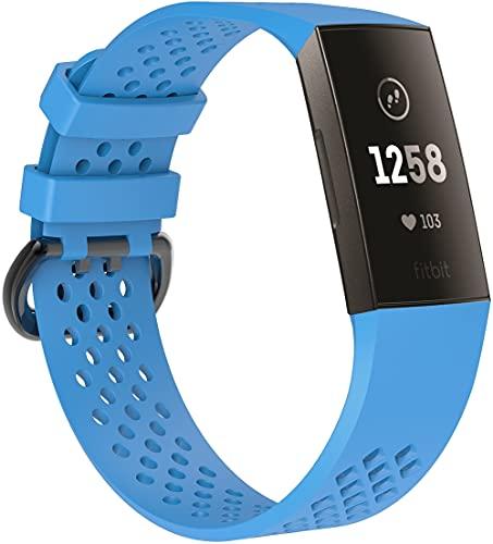 Gransho Armband kompatibel mit Fitbit Charge 4 / Charge 3 SE/Charge 3 / Charge 3 Special Edition, Silikon Sportarmband Uhr Band Strap Ersatzarmband Uhrenarmband (Pattern 2)