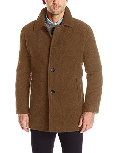Cole Haan Signature Men's Car Coat Jacket, Camel, Large