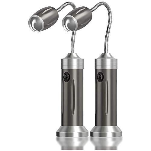 PGFUNNY 2 Stück Grill Licht LED BBQ Lampe 360°Verstellbare Magnetische Grilllampe Outdoor Grillen Arbeit Beleuchtung Zubehör für Grill,Camping,Party,Werkstatt(Nicht Enthalten Batterien)