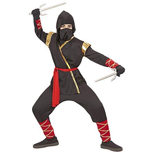 Widmann 96815 Kinderkostüm Ninja, Jungen, Schwarz