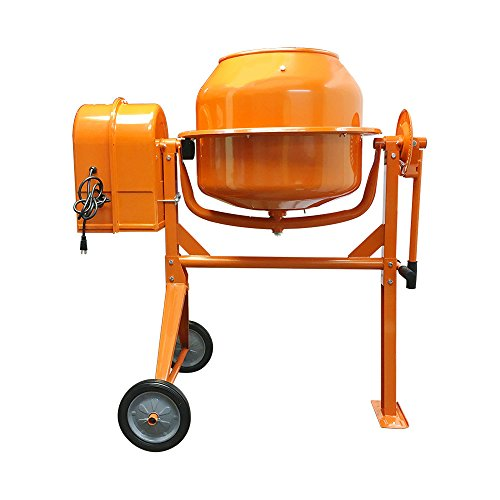 PROLINEMAX HD Portable Electric 3-1/2 Cubic Feet Steel Stucco Concrete Cement Mixer Contractor Mortar