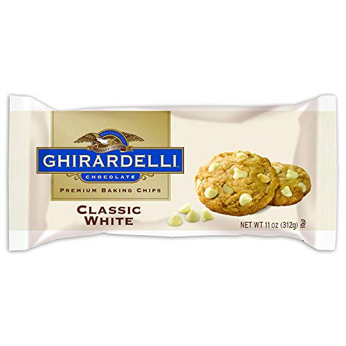 Ghirardelli Classic White Chocolate Premium Baking Chips - 11 oz. (312g)​, Pack of 6