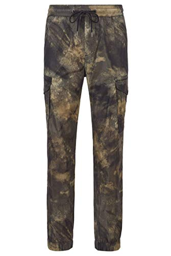 BOSS Herren Selmor Relaxed-Fit Cargohose mit Camouflage-Print