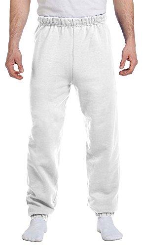 Jerzees Men's Preshrunk Waist Pill Resistant Sweatpant, White, Large