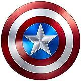 MOMAMOM Escudo Capitan America Metal 1: 1 Adulto Apoyos De Película Niños Hierro Forjado Capitán América Shield Vengadores Disfraz De Metal Shield 47Cm