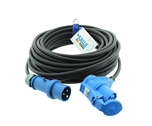 Kalle H07RN-F - Cable alargador de camping CEE de 3 polos (25 m, 230 V, 16 A, 2,5 mm²), color negro