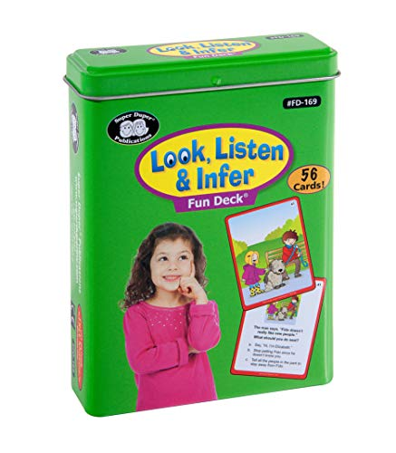 Super Duper Publications Look, Listen & Infer Fun Deck Flash Cards Educational Learning Resource for Children