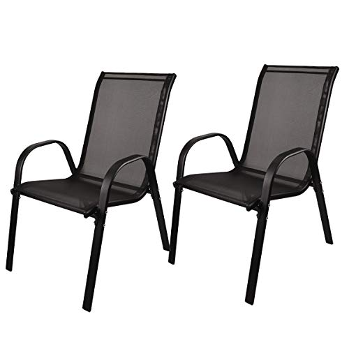 FiNeWaY@ 2 SEATER STACKING GARDEN FURNITURE PATIO LOVE COMPANION CHAIR SEAT