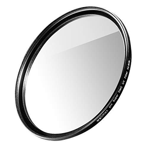 Walimex pro Filtro UV Slim Super DMC 58 mm – Filtro UV de Objetivo, Fino de Solo 2,5 mm, 16 x Super DMC, para protección de Objetivos y Colores Brillantes, con Caja